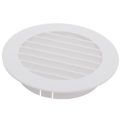 Grille ronde plastique Sencys blanche Ø 150 mm