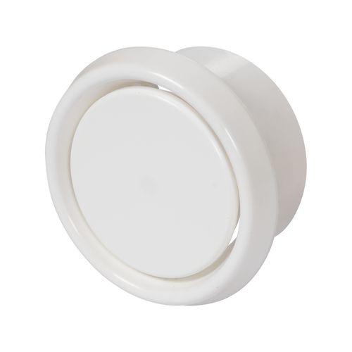 Sencys luchtventiel Ø125mm kunststof wit