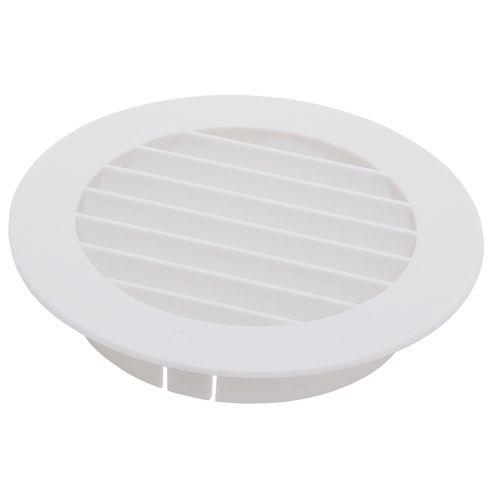 Grille de ventilation Sencys ronde plastique blanc Ø 100 mm