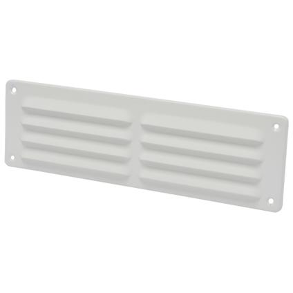Grille de ventilation Sencys aluminium blanc 30 x 9 cm