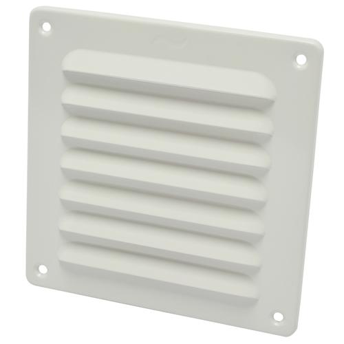 Grille de ventilation Sencys aluminium blanc 15,5 x 15,5 cm