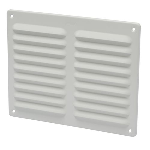 Sencys schoepenrooster 24,5x19,5cm aluminium wit