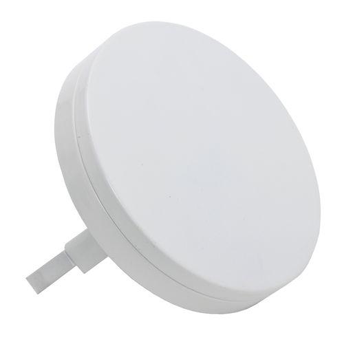 Sencys luchtventiel Plat Ø100mm staal wit