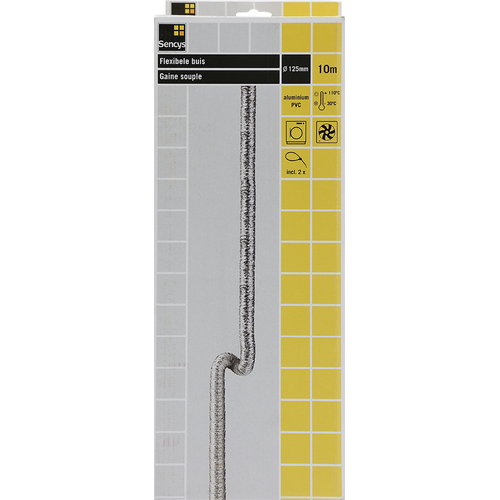 Sencys Flexbuis Alu/PVC Ø125mm 10m