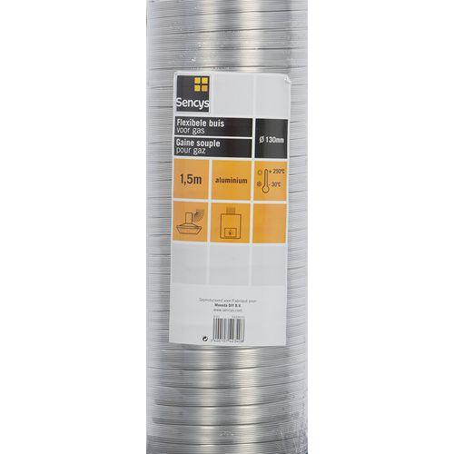 Sencys flexbuis aluminium voor geiser en VMC Ø132-139mm 150cm
