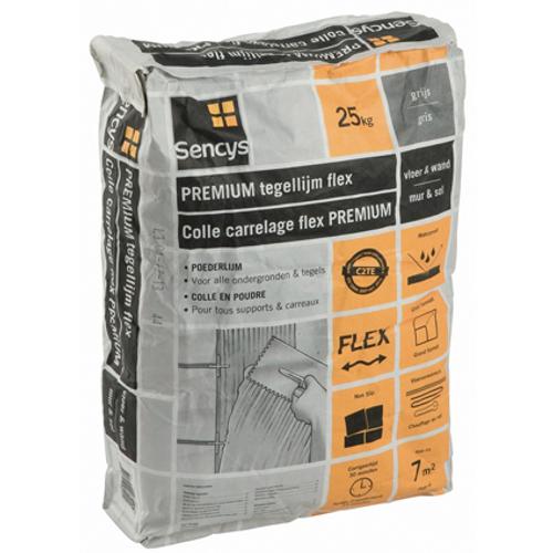 Colle carrelage en poudre Sencys 'Flex' gris 25 kg