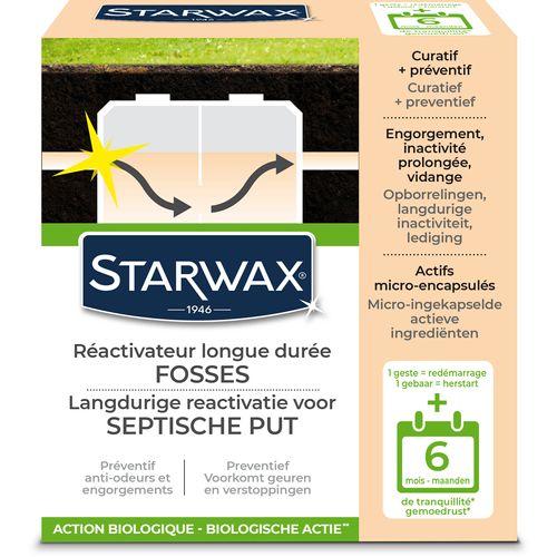 Ré-activateur longue durée Starwax 'Fosses Septiques' 500 g