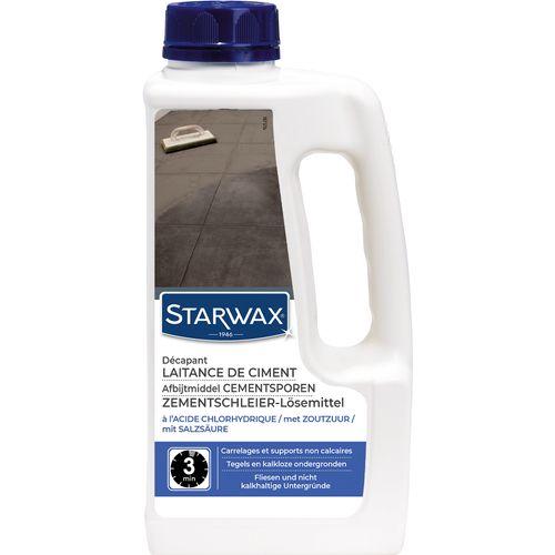 Décapant laitance de ciment Starwax 'Sols Carrelés' 1 L