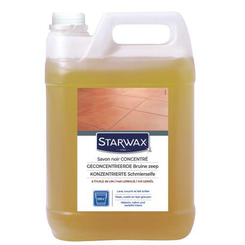 Starwax bruine zeep met lijnolie
