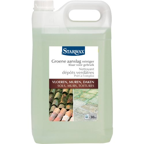 Nettoyant dépôts verdâtres concentré Starwax 'Sols, Murs & Toitures' 6 L
