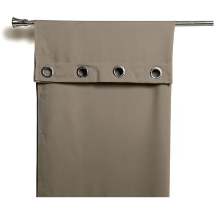 Rideau Decomode 'Charlotte' occultant brun œillets 140 x 280 cm
