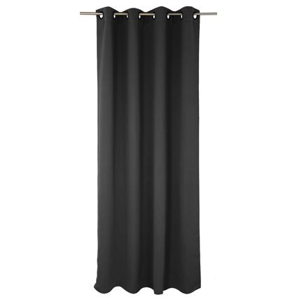 Rideau Decomode 'Charlotte' occultant noir œillets 140 x 280 cm