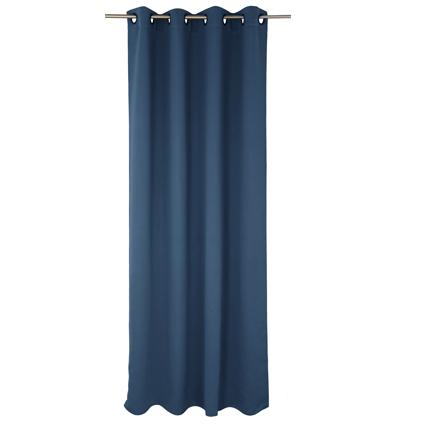 Decomode gordijn Charlotte verduisterend blauw oogjes 140 x 280 cm