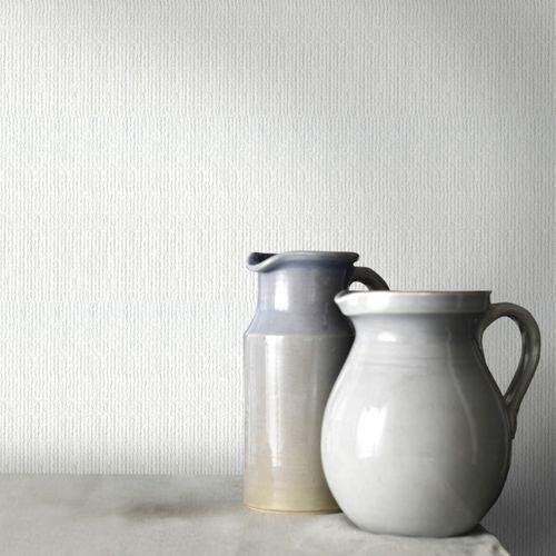 Sencys papier peint intissé à peindre Linen blanc