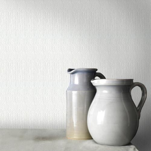 Sencys overschilderbaar vliesbehang Linen wit