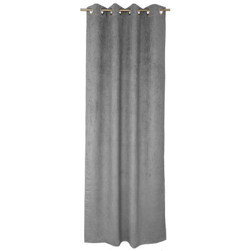Rideau Decomode 'Emma' tamisant zinc 140 x 280 cm