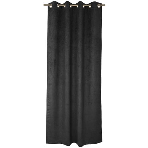 Decomode gordijn 'Emma' lichtdoorlatend zwart 140 x 280 cm