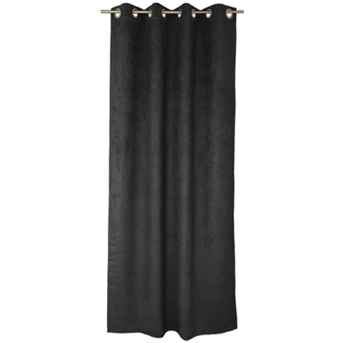 Rideau Decomode 'Emma' tamisant noir 140 x 280 cm