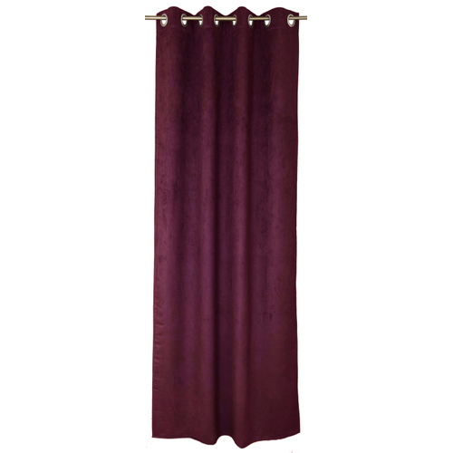Rideau tamisant Decomode 'Emma' rouge 140 x 280 cm