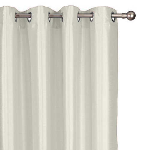 Rideau Decomode 'Chloe' tamisant blanc cassé 140 x 280 cm