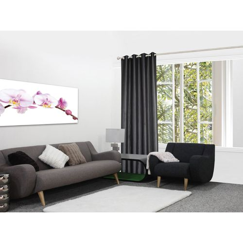 Decomode gordijn Chloe lichtdoorlatend antraciet 140x280cm polyester