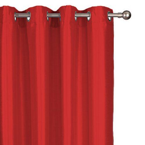 Rideau tamisant Decomode 'Chloe' rouge 140 x 280 cm