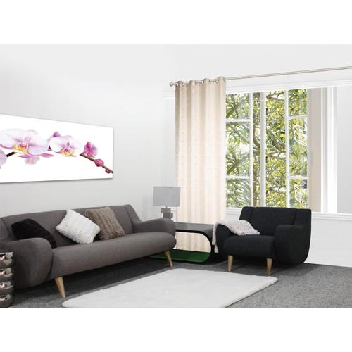 Rideau Decomode 'Marie' tamisant blanc cassé 140 x 280 cm