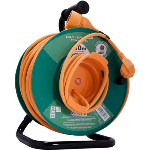 Enrouleur de câble Chacon 'H05VV-F 3G1,5' 50 m