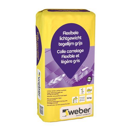 Weber flexibele lichtgewicht tegellijm 15kg