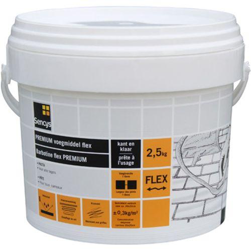 Sencys premium pasta voegmiddel flex waterdicht antraciet 2,5kg kant-en-klaar
