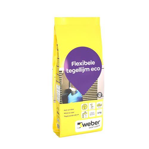 Weber flexibele tegellijm eco 4kg
