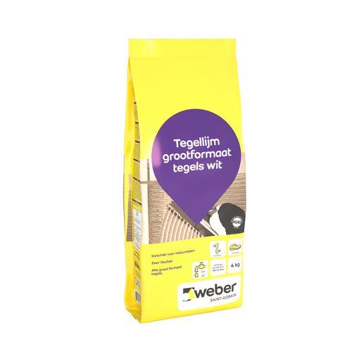 Weber tegellijm grootformaat tegels 4kg