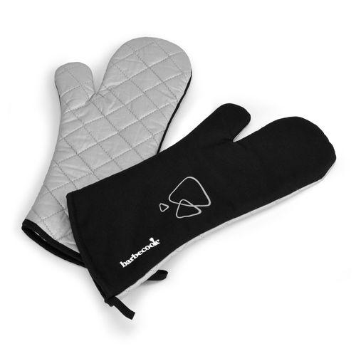 Barbecook gants longs en coton et isolation de l'aluminium gris/noir - 2 pièces