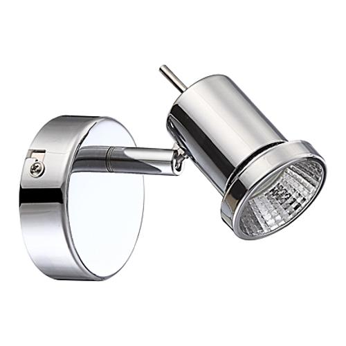 Wofi wandlamp 'Hoorn' 1x5W LED chroom