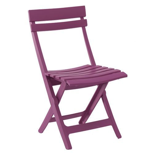 Chaise de jardin Grosfillex Miami pliable résine fuschia