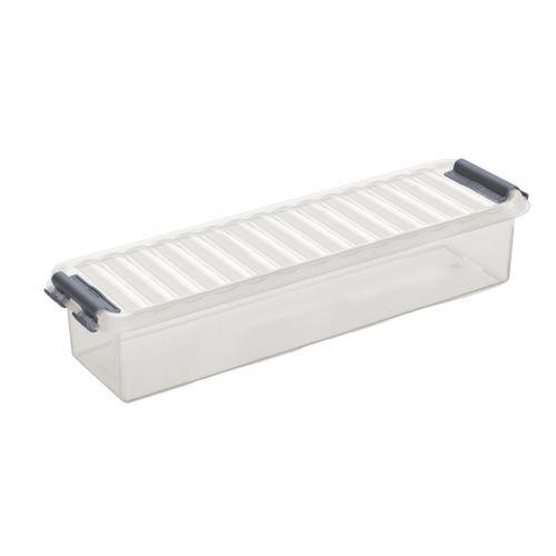 Sunware opbergbox 'Q-line' 0,9L transparant/metaal