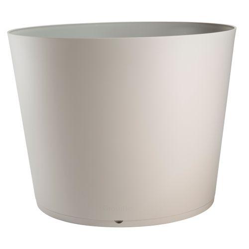 Bac à plantes GrosfillexTokyo PVC ø80cm gris chaud