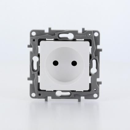 Legrand NILOÉ inbouw stopcontact - enkelvoudig - wit