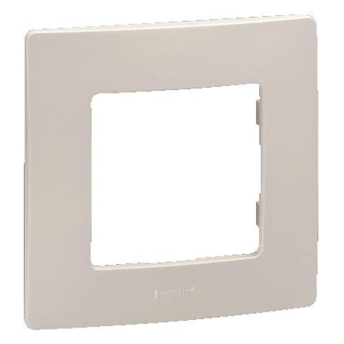 Plaque de recouvrement simple horizontale/verticale niloé Legrand crème