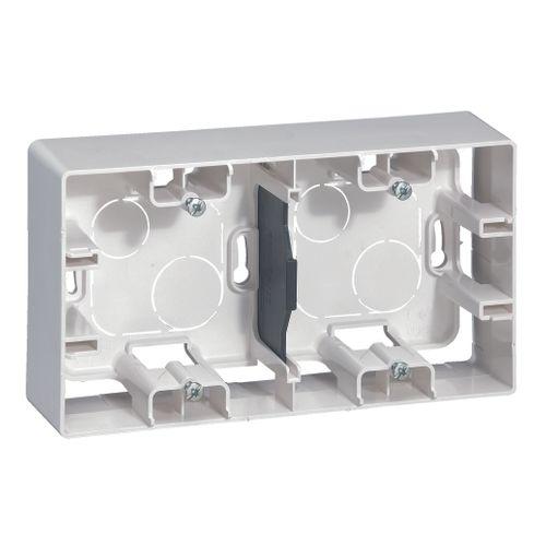 Cadre saillie 2 modules niloé Legrand blanc
