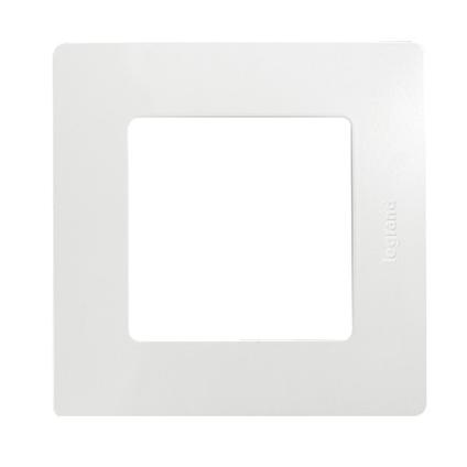 Legrand niloé afdekplaat 1V horizontaal/verticaal wit