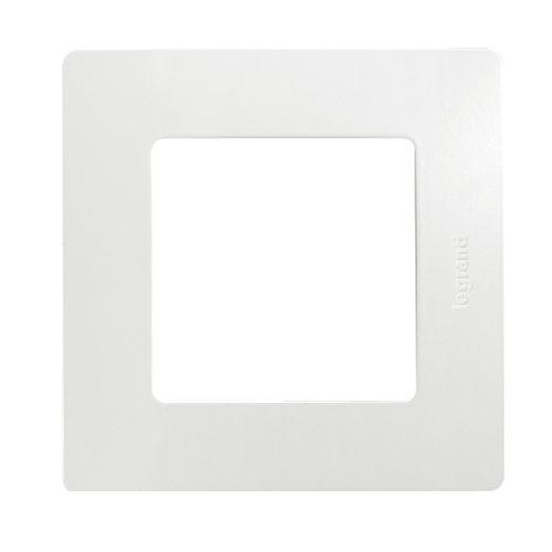 Plaque simple horizontale/verticale niloé Legrand blanc