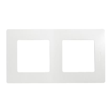 Legrand niloé afdekplaat 2V horizontaal/verticaal wit