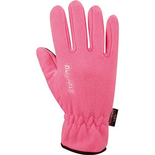 Handschoenen Fleece roze maat M