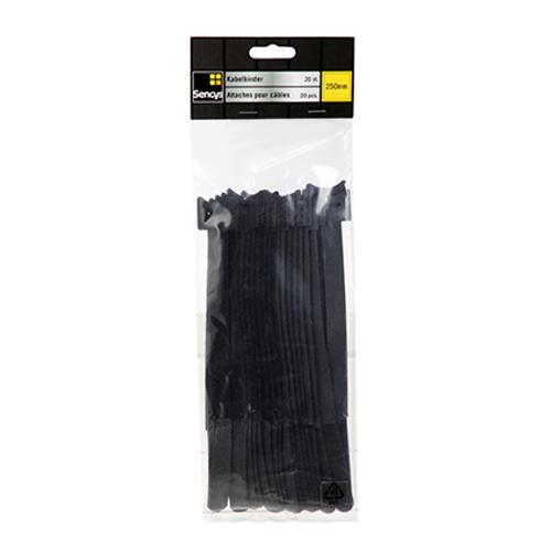 Sencys kabelbinders nylon zwart 254 mm - 20 stuks