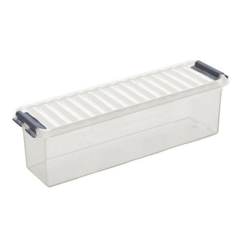 Boîte de rangement Sunware 'Q-line' 1,3L transparent/métal