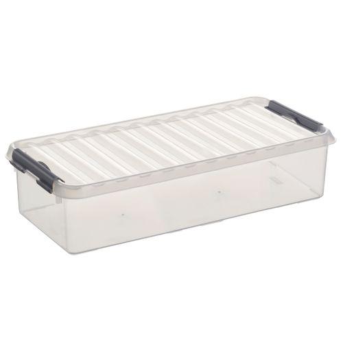 Boîte de rangement Sunware 'Q-line' 6,5L transparent/métal