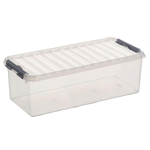 Boîte de rangement Sunware 'Q-line' 9,5L transparent/métal