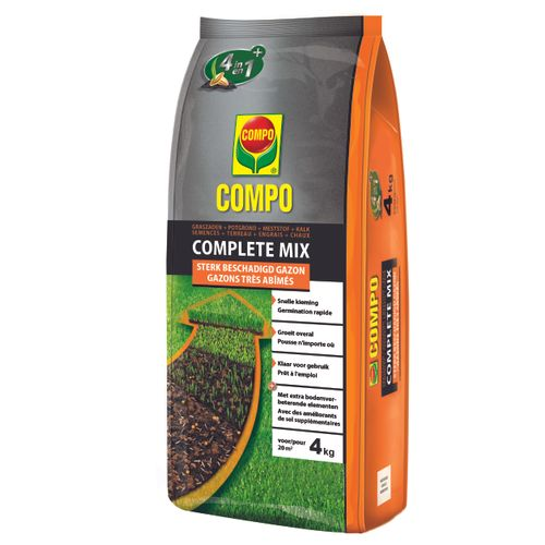 Engrais rénovation gazon Compo Complete Mix 4-en-1 (6m²) 1,2kg