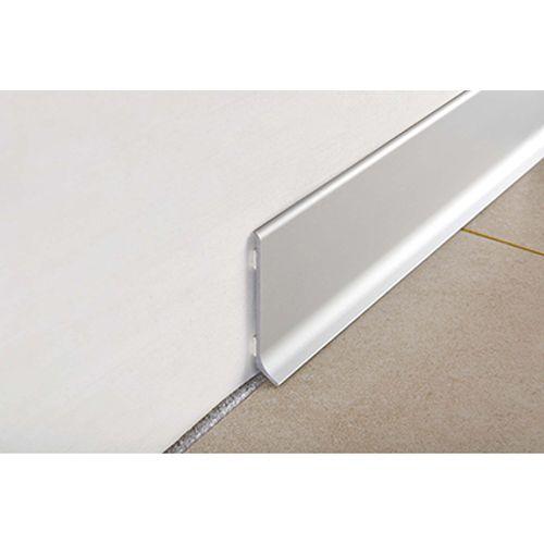 Plinthe Progress profiles aluminium 6 x 200 mm argent